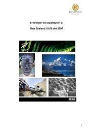 Erfaringer fra studieturen til New Zealand 18-29 ... - Innovasjon Norge