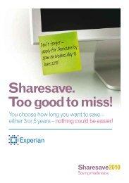 Sharesave. Too good to miss! Sharesave2010