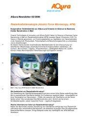 Aqura-Newsletter 02/2006 Rasterkraftmikroskopie ... - Aqura Gmbh