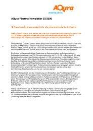 Aqura-Pharma-Newsletter 03/2006
