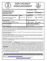 AGR VACANCY ANNOUNCEMENT - Colorado National Guard
