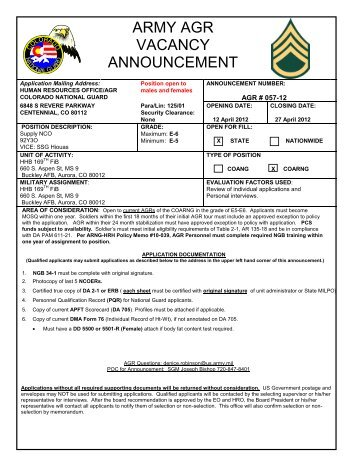 texas army national guard enlisted title 32 agr vacancy announcement