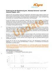 """Änderung bei der Bestimmung der """"Residual ... - AQura GmbH"""