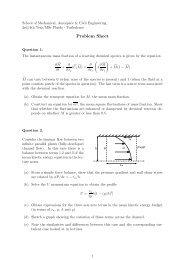 Problem Sheet - Turbulence Mechanics/CFD Group