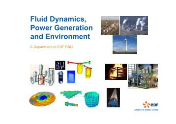 Fluid Dynamics, Power Generation and Environment - Turbulence ...