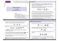 Scalar Transport - Turbulence Mechanics/CFD Group