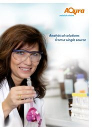 Analytical solutions from a single source - Aqura Gmbh