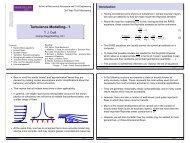 Turbulence Modelling– 1 - Turbulence Mechanics/CFD Group