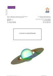 Code Saturne version 2.0.0 tutorial - Turbulence Mechanics/CFD ...