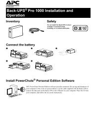APC Smart-UPS SC 1500 SC1500 User's Manual - ExcessUPS