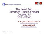 The Level Set Interface-Tracking Model Coupled to SPH Method