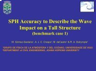 SPH Accuracy to Describe the Wave Impact on a Tall Structure