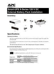 apc smart-ups x external battery pack user's manual - excessups