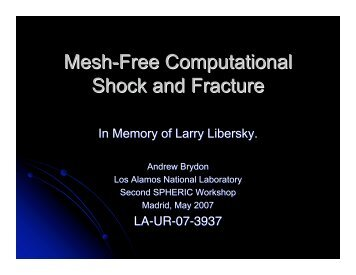 Mesh-Free Computational Shock and Fracture