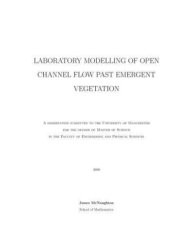 laboratory modelling of open channel flow past emergent vegetation