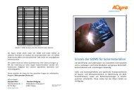 Einsatz der GDMS für Solarmaterialien - Aqura Gmbh