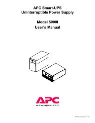 APC Back-UPS Pro 1000/1100/1400 User's Manual