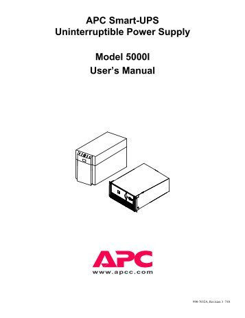 APC Smart-UPS 420/620 230 VAC User's Manual