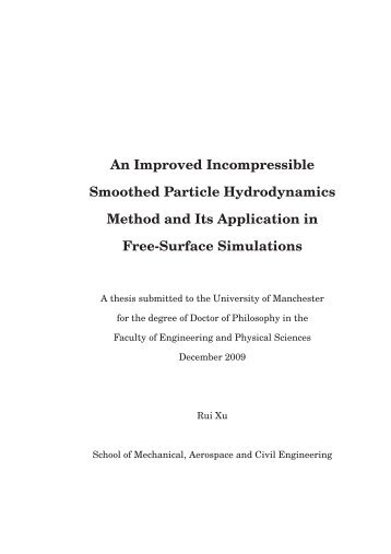 An Improved Incompressible Smoothed Particle Hydrodynamics ...