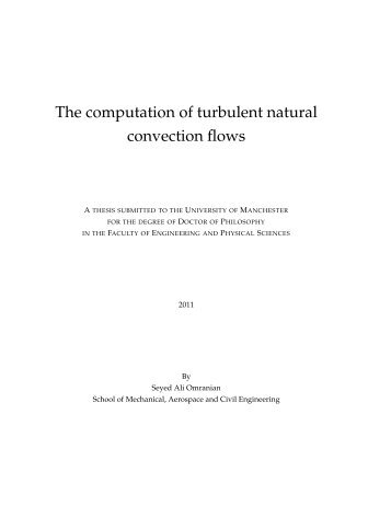 The computation of turbulent natural convection flows - Turbulence ...
