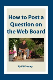How to Post a Question on the Web Board - Leerburg Enterprise, Inc