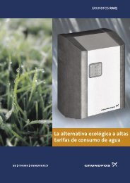 La alternativa ecológica a altas tarifas de consumo de agua - Grundfos