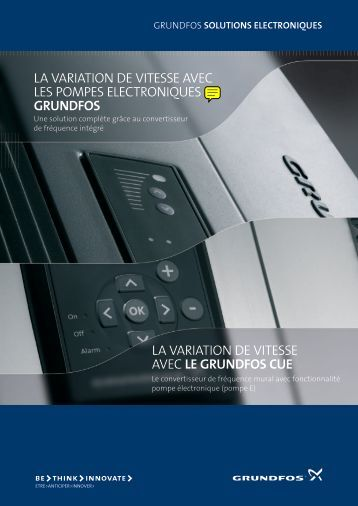 GRUNDFOS solutions electroniques