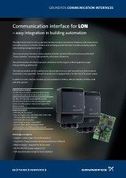 Communication interface for LON - Energy-efficient pumps for ...