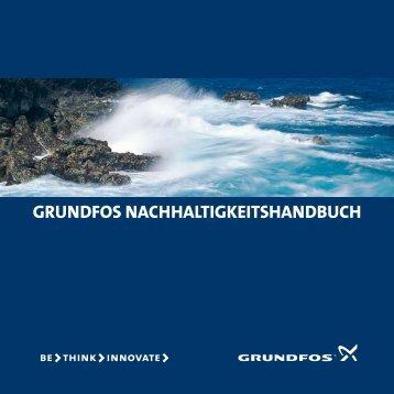 GRUNDFOS NACHHALTIGKEITSHANDBUCH