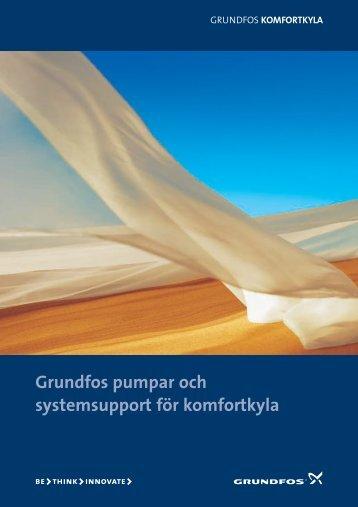 Grundfos pumpar och systemsupport för komfortkyla