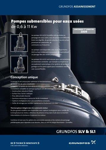 Pompes submersibles pour eaux usées de 0,6 à 11 Kw - Grundfos