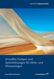 Grundfos Pumpen und Systemlösungen für Kälte- und Klimaanlagen