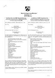 Good Manufacturing Practice (GMP) Zertifikat für den ... - Aqura Gmbh