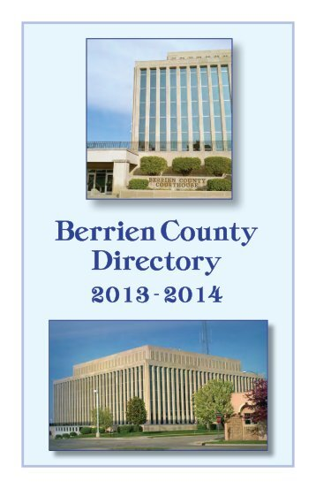County Government Directory - Berrien County