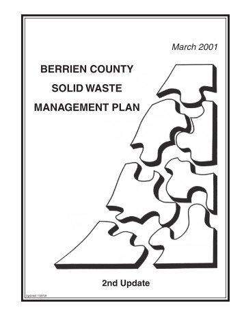 BERRIEN COUNTY SOLID WASTE MANAGEMENT PLAN