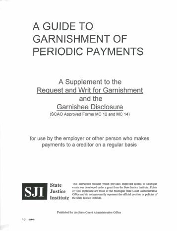 Garnishment of Periodic Payments - Berrien County
