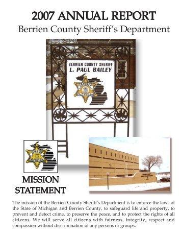 2007 ANNU 2007 ANNUAL REPORT AL REPORT - Berrien County