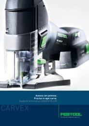 Seghetto alternativo CARVEX PS 400 - Festool
