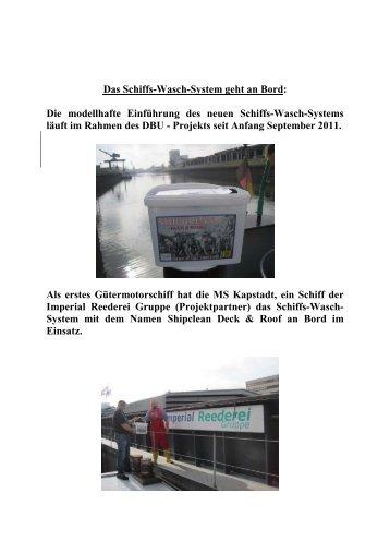 Schulung auf der MS Kapstadt September 2011 - H. Lohmann Schiffs
