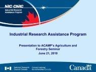 Industrial Research Assistance Program - Acamp