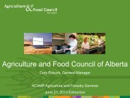 Agriculture and Food Council of Alberta - Acamp