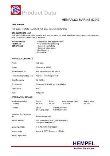 HEMPEL'S EPOXY FILLER 35250 - H. Lohmann Schiffs