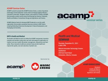 Download the schedule - Acamp