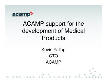 ACAMP – Supporting the Development of Health & Medical Products