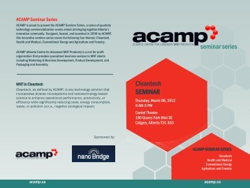seminarseries Cleantech SEMINAR - Acamp