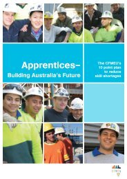 Apprentices ? building Australia's future - CFMEU