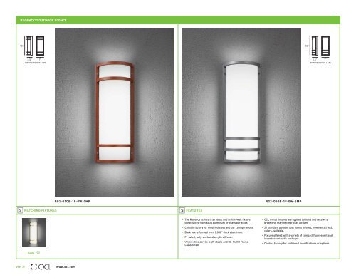 Regency Outdoor Sconce Ocl Architectural Lighting