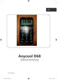 Bedienungsanleitung Anycool D68 Deutsch - Avcibase