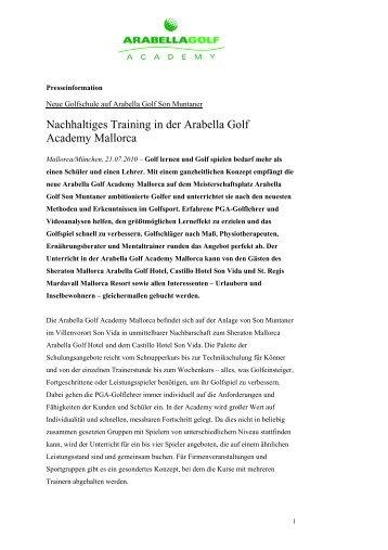 Nachhaltiges Training in der Arabella Golf Academy Mallorca