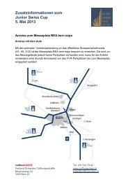 Zusatzinformationen Junior Swiss Cup 2013 - Coiffure SUISSE